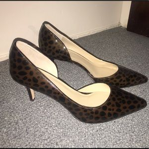 Ann Taylor Leather Kitten Heels NWOT